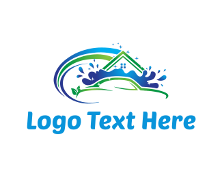 Car Wash - House and Car Cleaning logo design