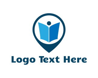 School - Book Pin logo design