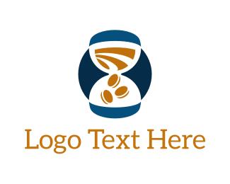 Hourglass - Time for Money logo design