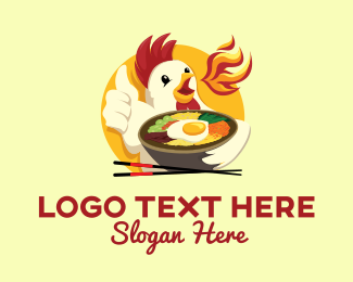 Lunch - Chicken Bowl logo design