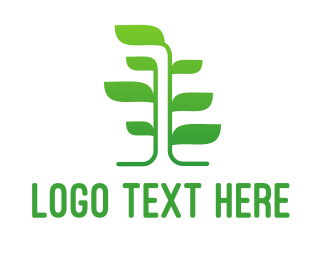 Primitive - Green Vine Tree logo design