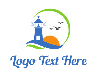 Lighthouse - Lighthouse Birds logo design