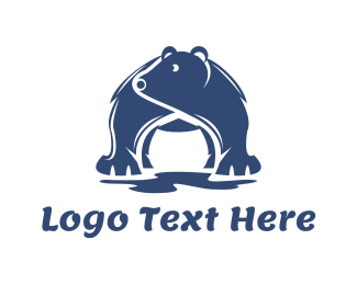 Climate - Blue Polar Bear logo design