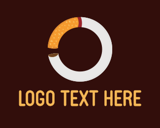 Cigarette - Cigar Circle logo design