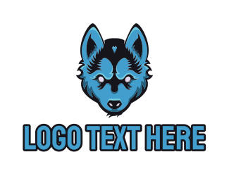 Coyote - Blue Wolf logo design