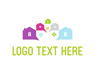 Townhouses - Social Neighborhood  logo design