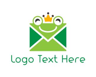 Envelope - Mail Frog logo design
