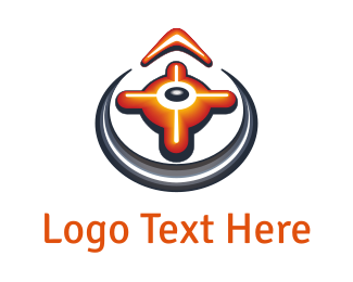 West - Orange Compass logo design