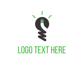 Lighting - Green Light Idea logo design