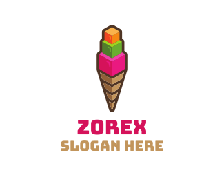 3d - 3D Cube Scoop logo design