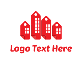 Discount - Buildings Tags logo design