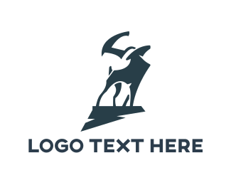 Moose - Elk Silhouette logo design