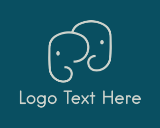 Cute Elephants Logo Maker