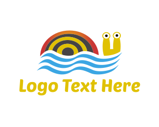 Lake - Swimming Snail logo design