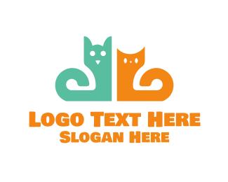 Friend - Dog & Cat logo design