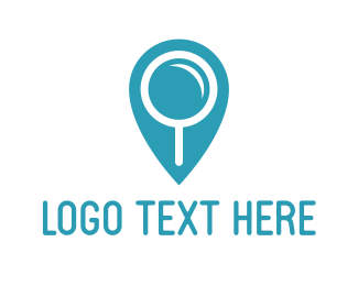 Magnifying Glass - Search Point logo design