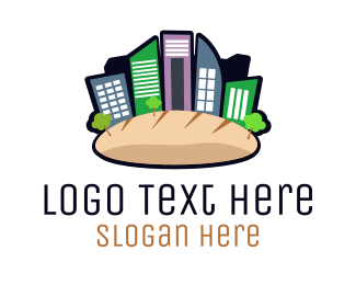 Baguette - Bread City logo design