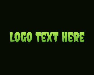 Horror - Green & Slimy logo design