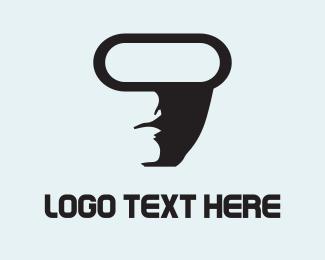 Male - Virtual Reality logo design