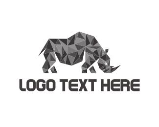 Rhinoceros - Crystal Rhino logo design