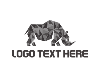 Gray - Crystal Rhino logo design
