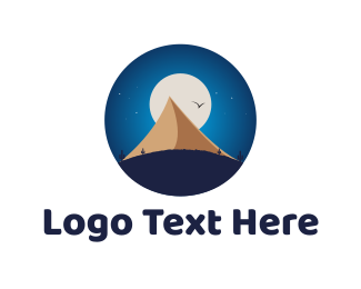 Moon - Moon & Pyramid logo design