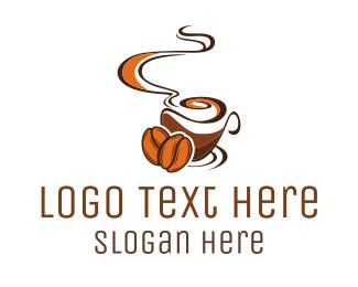 Brew - Brown Coffee logo design