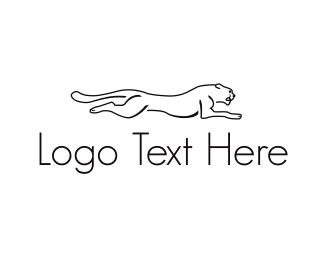 Feline - Running Big Cat logo design