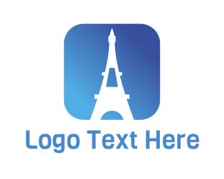 Eiffel Tower - Eiffel App logo design