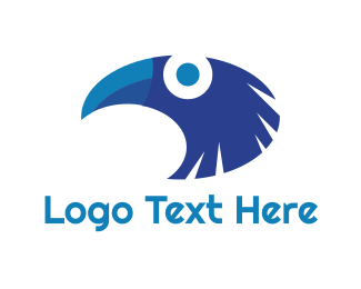 Toucan - Blue Tropical Toucan logo design