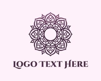 Hindu - Purple Mandala logo design