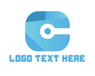 """Tech Letter C"" by SimplePixelSL"