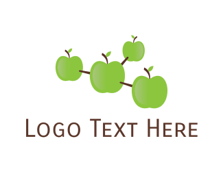 Grocery - Apple Molecule logo design