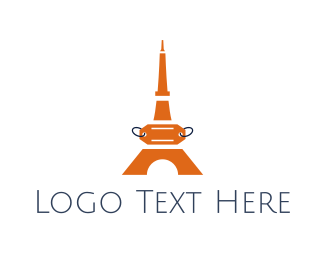 Destination - Orange Tower Price Tag logo design