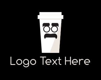 Cartoon - Coffee Cup Cartoon logo design