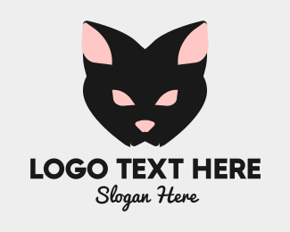 Cat - Halloween Black Cat logo design