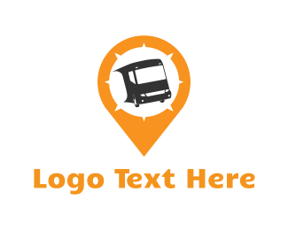 Vehicle - Bus Locator logo design