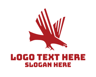 Claws - Red Charging Eagle logo design