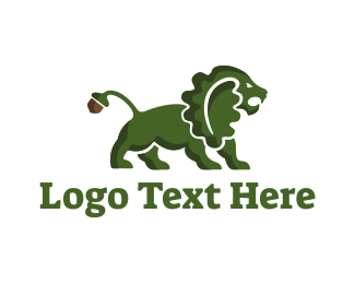 Acorn - Oak Lion logo design
