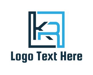 Letter R - K & R logo design