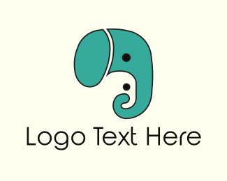 Mom - Elephant Faces logo design