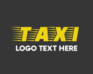 Cab - Taxi Font logo design