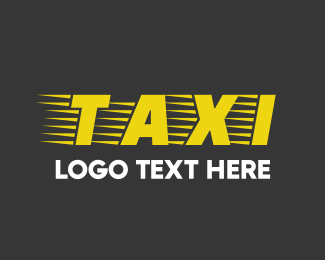 Transport - Taxi Font logo design