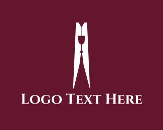 Wine Glass - Wine Peg logo design