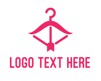 Activewear - Pink Fashion Hanger logo design
