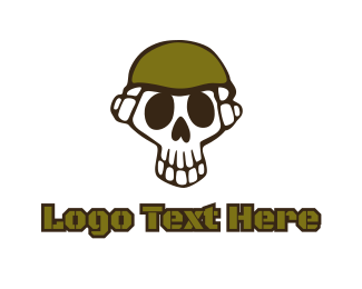 Crypt - Skull Soldier logo design