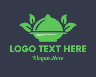 Plate - Green Food logo design