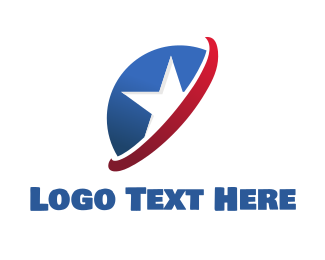 Patriotic - American Star logo design