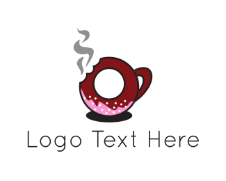 Confectionary - Donut Cup logo design