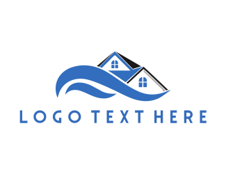 Wave - River House logo design